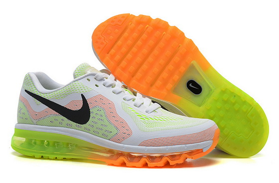 Women's Air Max 2014 Shoes White/black green pink