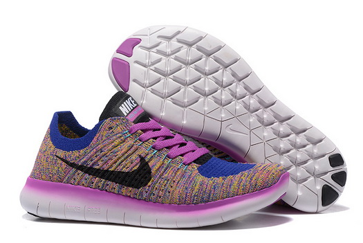 Women's Free Flyknit 5 Shoes Purple/blue black