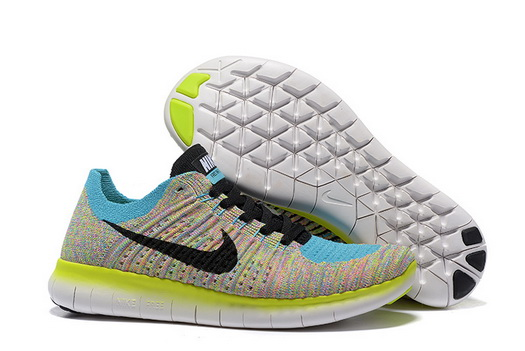 Women's Free Flyknit 5 Shoes Green/black blue