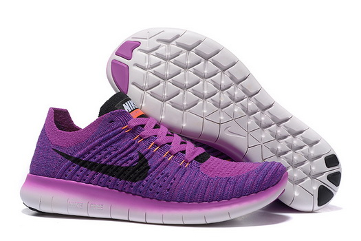 Women's Free Flyknit 5 Shoes Purple/black