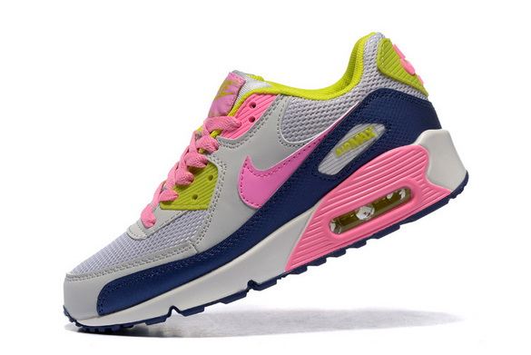 Women's Air Max 90 Shoes Gray/pink blue green