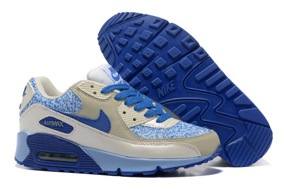 Women's Air Max 90 Shoes Gray/blue