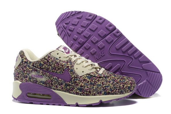 Women's Air Max 90 Shoes Black/purple white