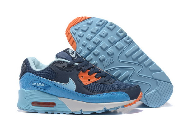 Women's Air Max 90 Shoes Blue/orange white