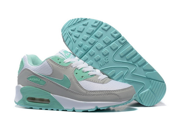 Women's Air Max 90 Shoes Gray/green white