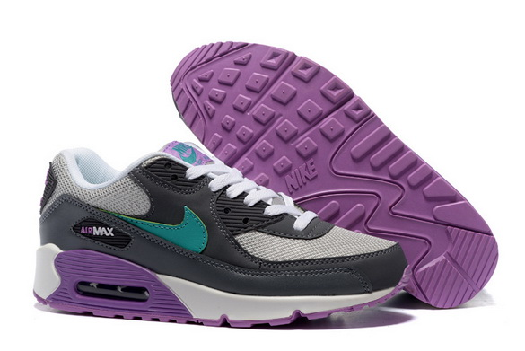 Women's Air Max 90 Shoes black/green purple