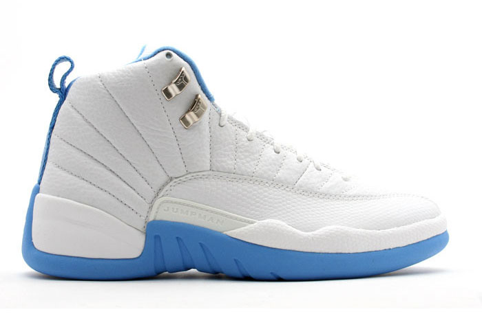 "Air Jordan 12 Retro ""University Blue"" Shoes White/North Carolina blue"