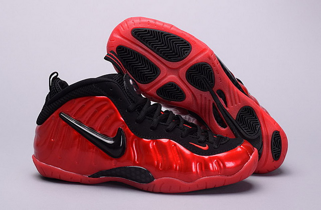 "Air Foamposite pro ""university red"" Women Girl Shoes Red/Black"