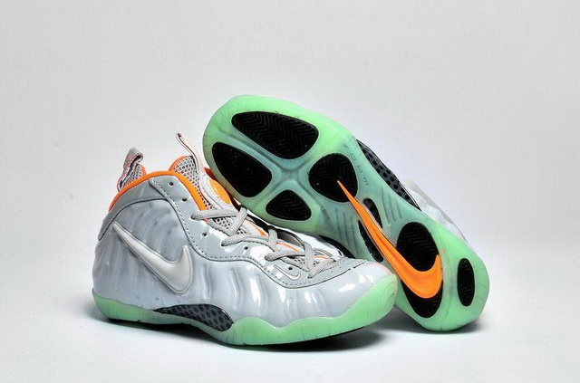 "Womens Air Foamposite One ""Yezzy"" Shoes White silver/orange"