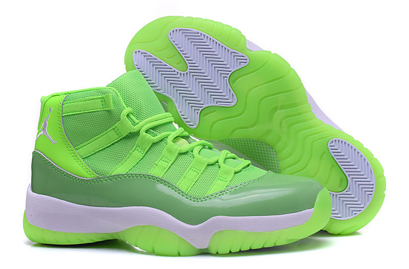 Womens Air Jordan 11 Retro Shoes Green/White