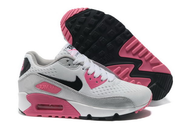 Women's AIR MAX 90 PREMIUM EM Shoes White/Black Pink Flash