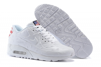 "Women Air Max 90 Hyp ""Independence Day"" Shoes White"