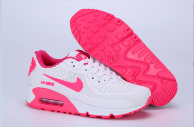 Women's Air Max 90 Shoes White/pink