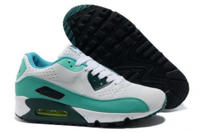 Women's AIR MAX 90 PREMIUM EM Shoes White/blue green