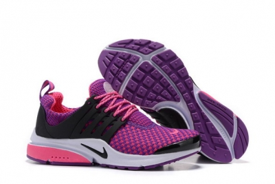 Womens Air Presto Shoes Purple/black white