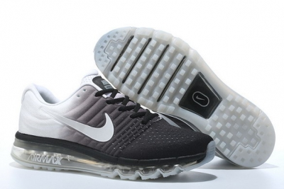 Air Max 2017 Running Shoes White/Black
