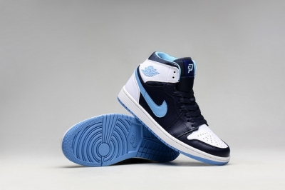 Air Jordan 1 Retro Shoes Blue/white