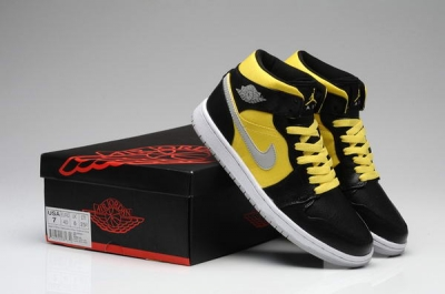 Air Jordan 1 New Color Shoes Yellow/Black/White