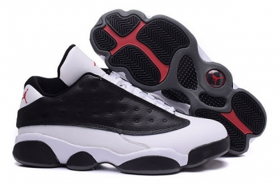Cheap Air Jordan 13 Shoes Black/white gray red