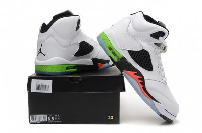 Air Jordan 5 Retro Shoes Infrared 23 White/black green orange