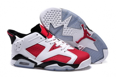 Air Jordan 6 Low Shoes Carmine/White Black