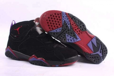 Air Jordan 7 Retro Shoes Black/Wine red